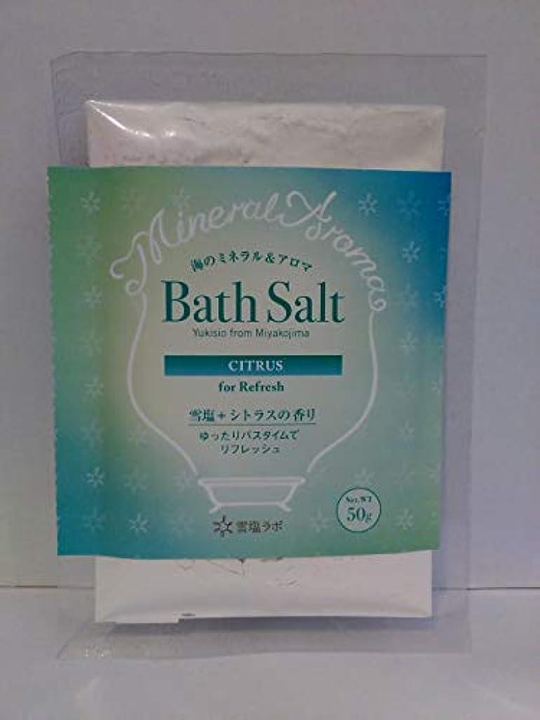 カップル晩餐コウモリ海のミネラル&アロマ Bath Salt 雪塩+シトラスの香り