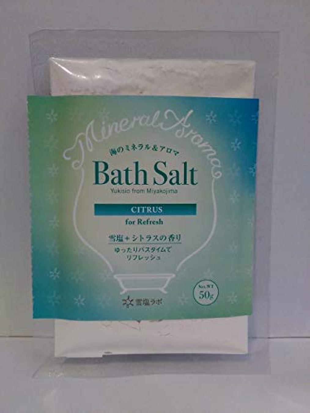息切れ電気技師ずっと海のミネラル&アロマ Bath Salt 雪塩+シトラスの香り
