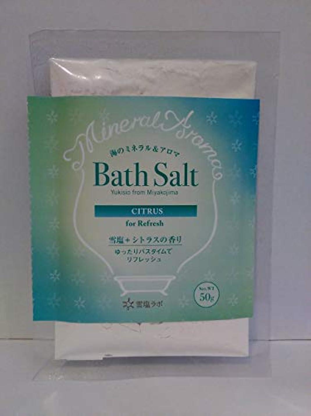 教えて投げ捨てる批判的海のミネラル&アロマ Bath Salt 雪塩+シトラスの香り