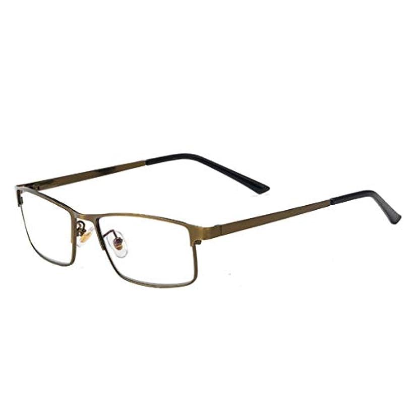 老眼鏡軽量アンチ眼精疲労UVフィルターレンズ軽量フレーム眼鏡、スプリングアームリーダーユニセックス男性/女性