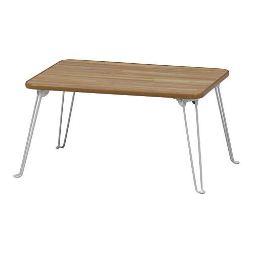不二貿易 ローテーブル 折りたたみ ちゃぶ台 幅60×奥行45cm ナチュラル 78144