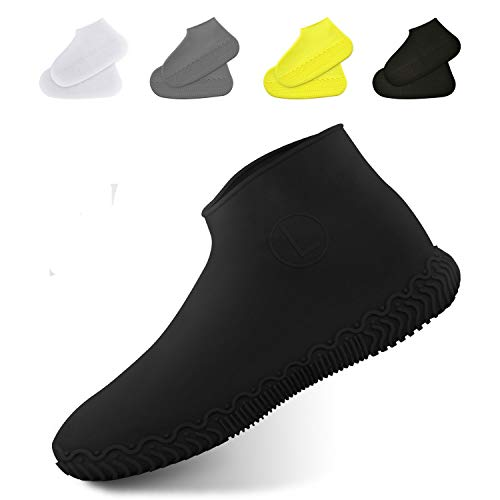 [DATAMO] シューズカバー 防水 靴カバー 携帯可 雨 雪 泥除け 梅雨对策 レインカバー 靴の保護 滑り止め レイン シューズ シリコンシューカバー 耐摩耗 男女兼用 子供も適用