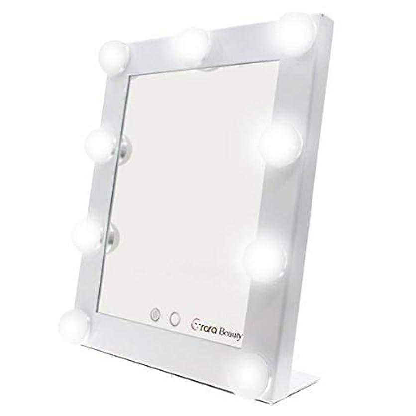 覚醒別の合理化lily's JP home 化粧鏡 女優ミラー 化粧ミラー メイクアップミラー LEDライト付き ハリウッド式 9*3WLED電球付き 2way給電タイプ 卓上ミラー (ホワイト)