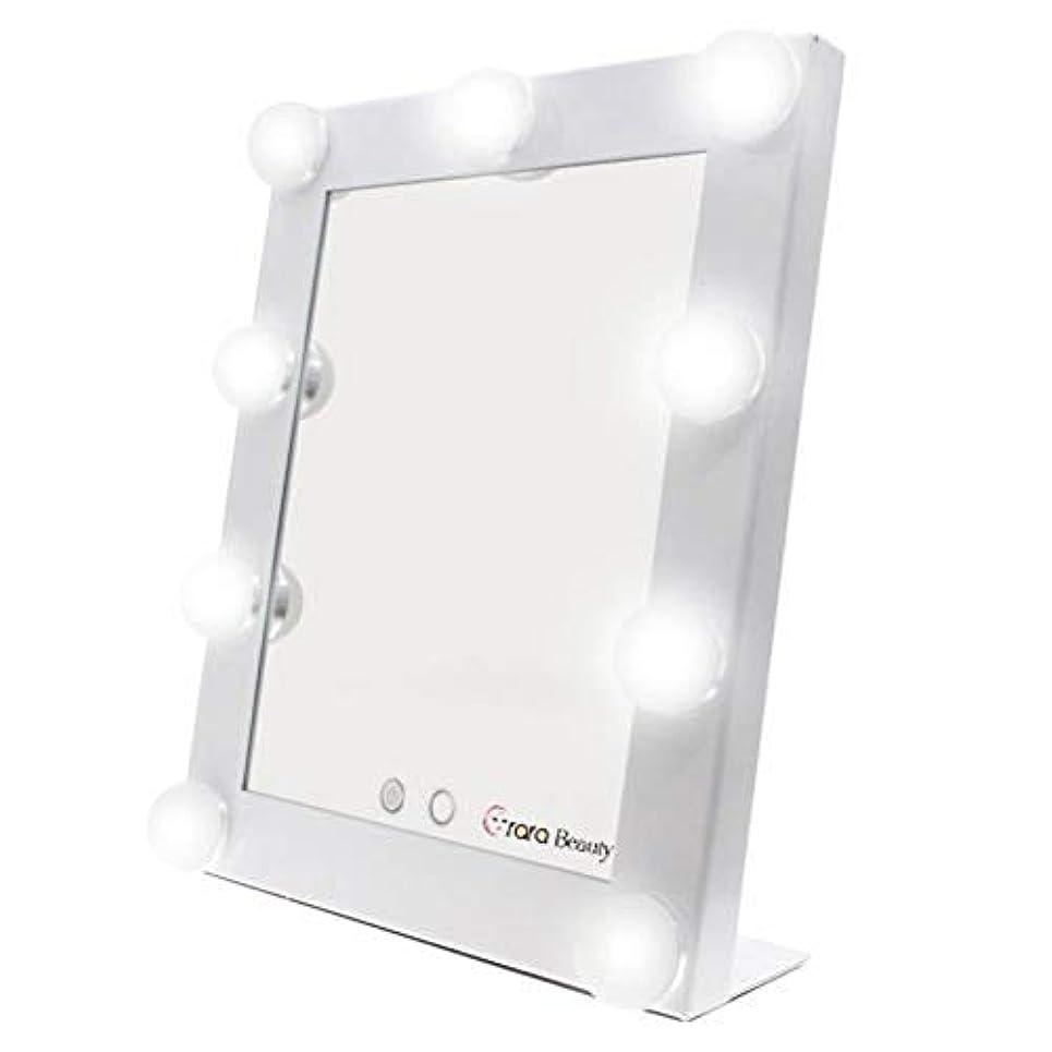 ニコチン変な溶岩lily's JP home 化粧鏡 女優ミラー 化粧ミラー メイクアップミラー LEDライト付き ハリウッド式 9*3WLED電球付き 2way給電タイプ 卓上ミラー (ホワイト)