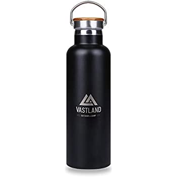 VASTLAND(ヴァストランド) 水筒 ステンレスボトル マグボトル 直飲み 二重断熱構造 750ml ブラック