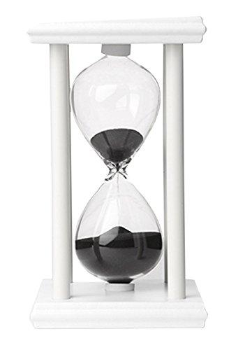 薩牧徳インテリア砂時計創意プレゼントホーム装飾品透明砂時計 (60分計, ブラック)