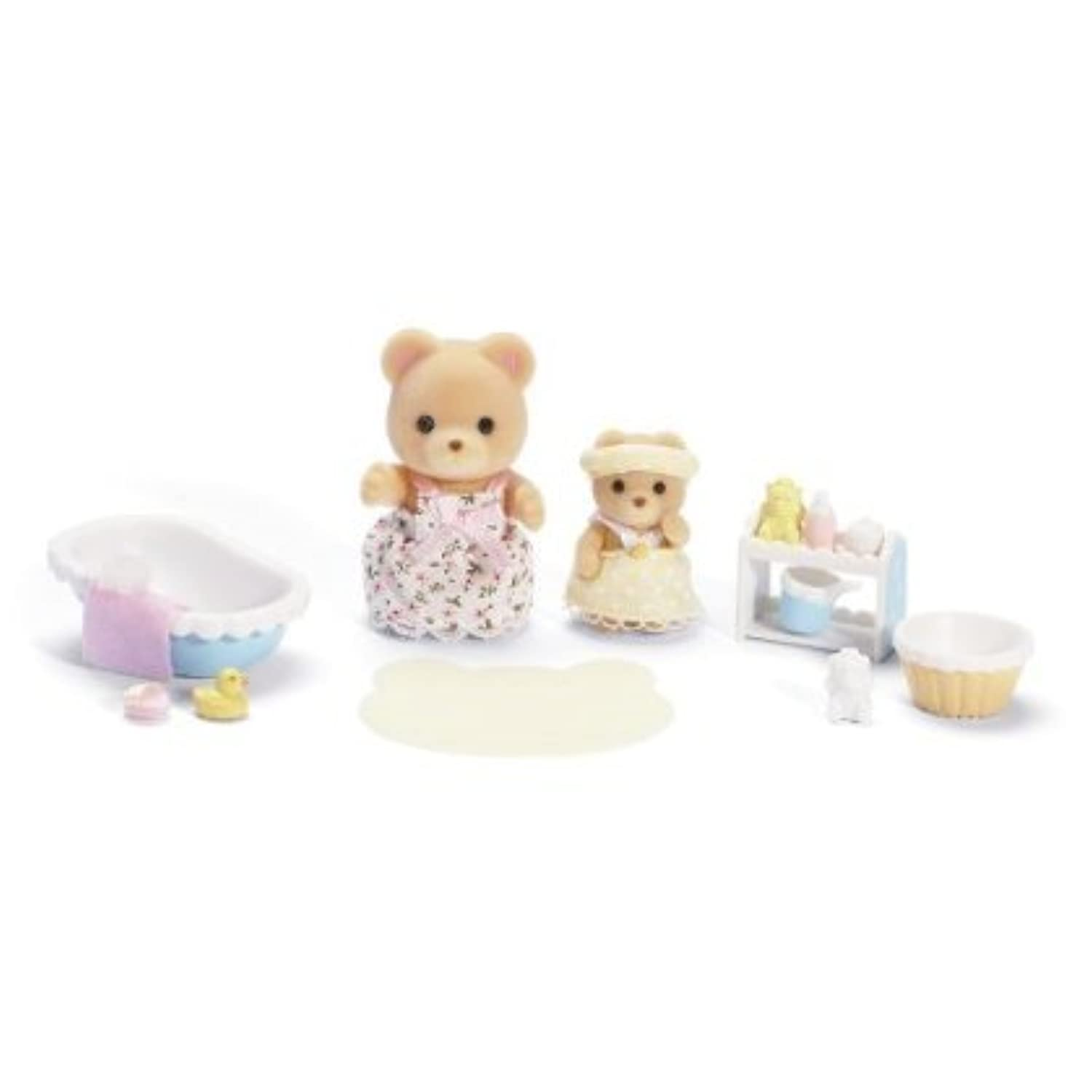 Calico Critters Melissa and Melody Bath Time Set おもちゃ [並行輸入品]