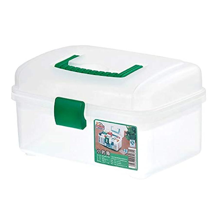 懇願する先行する繊維ピルボックスPP 26 * 14.5 * 18 cm家庭用薬ボックス薬収納ボックス (色 : 白)