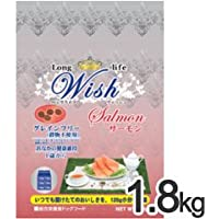 [P]ウィッシュ 犬用ドライフード サーモン 1.8kg(300g×6袋)