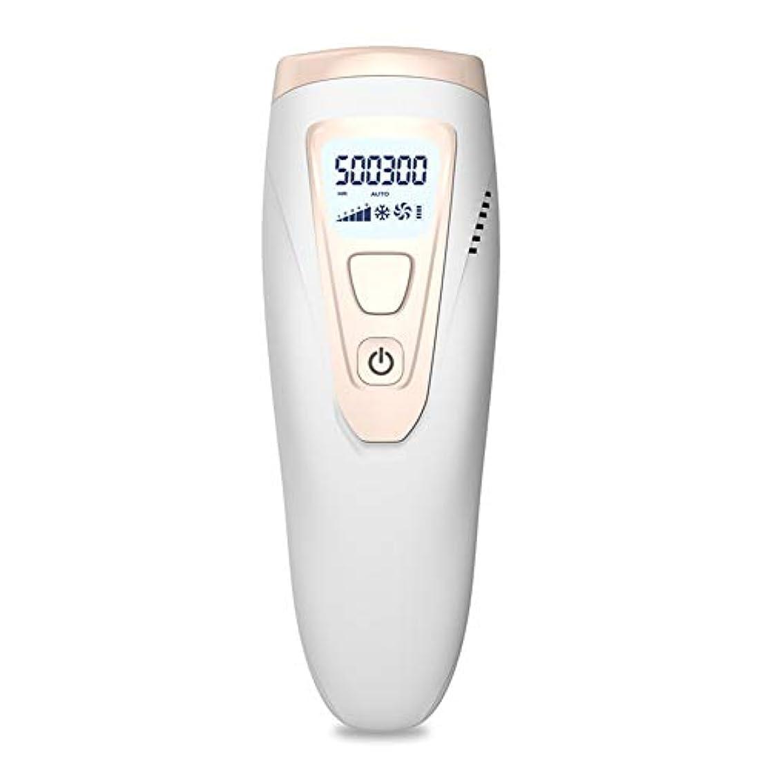 楕円形びっくりする減らすアイスクールIPLレーザー脱毛システム50万回のフラッシュ無痛常設パルス光脱毛器デバイス、にとってボディフェイス脇の下ビキニライン