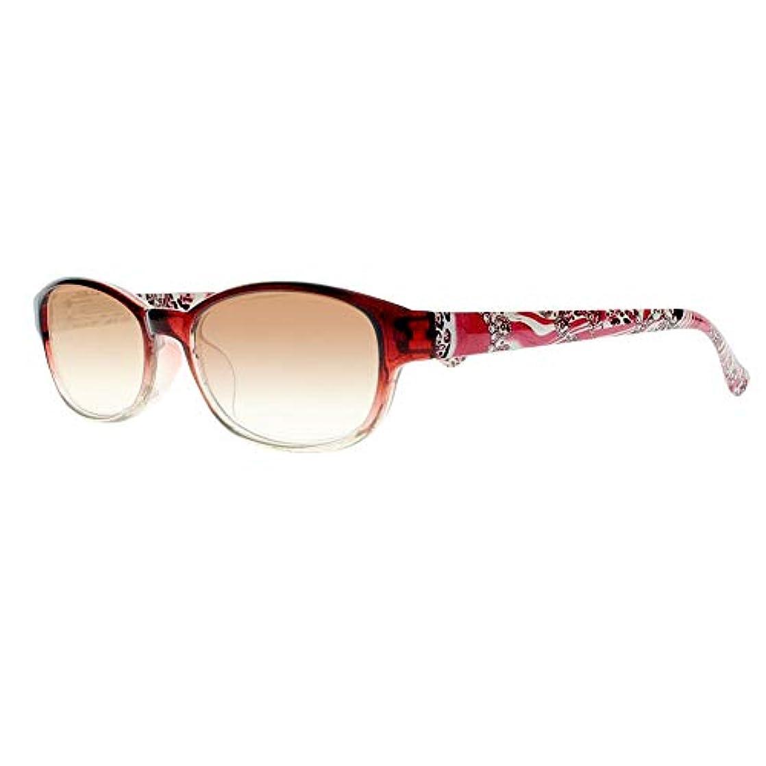FidgetGear 女性フラワーティンテッドレンズリーダー老眼鏡アイウェア+1.00?+4.00 New 赤