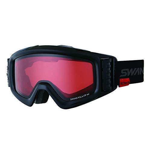 【国産ブランド】SWANS(スワンズ) スキー スノーボード ゴーグル 眼鏡使用可 ファン付 偏光レンズ ヘリ HELI-PDTBS-N MBK マットブラック