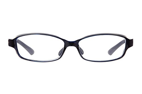 【花粉症対策メガネ Zoff AIR VISOR】日常使いしやすいメガネタイプ ネイビー (度なし・おしゃれ・メンズ・レディース)(Lサイズ)