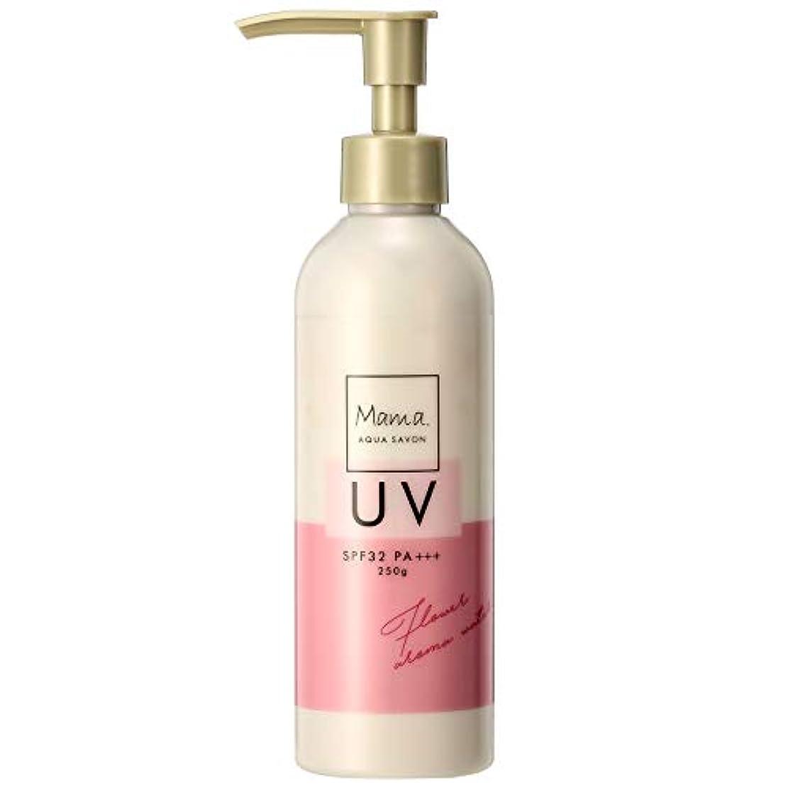 悪い刺繍酔うママアクアシャボン UVモイストジェル フラワーアロマウォーターの香り 19S 250g
