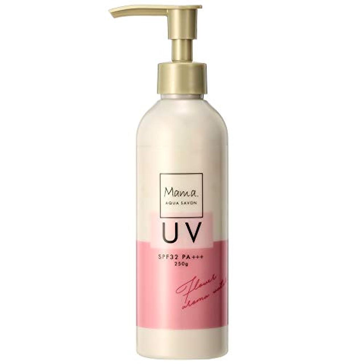無一文甘味砂利ママアクアシャボン UVモイストジェル フラワーアロマウォーターの香り 19S 250g