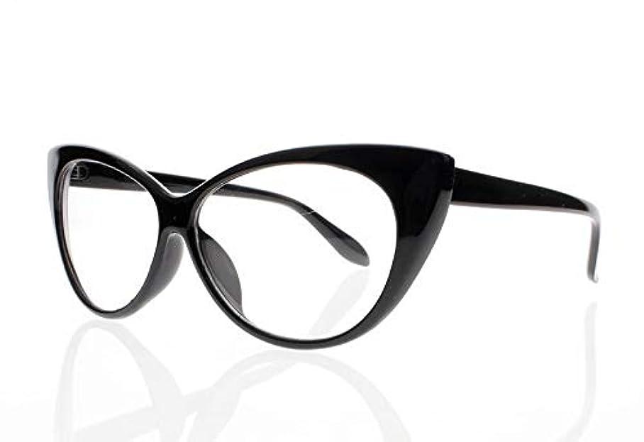 FidgetGear 女性レトロビンテージ猫目亀9色老眼鏡リーダー+ 1.0?+ 4.0 ブラック