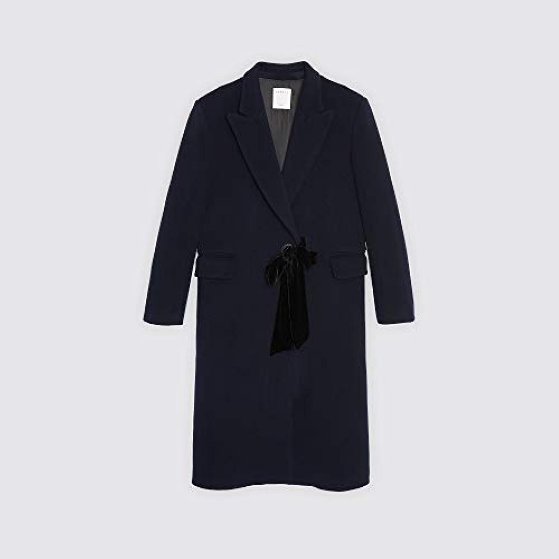 (サンドロ) Sandro WOMEN`S COAT WITH VELVET BELT ベルベット付き女性用コート (並行輸入品)