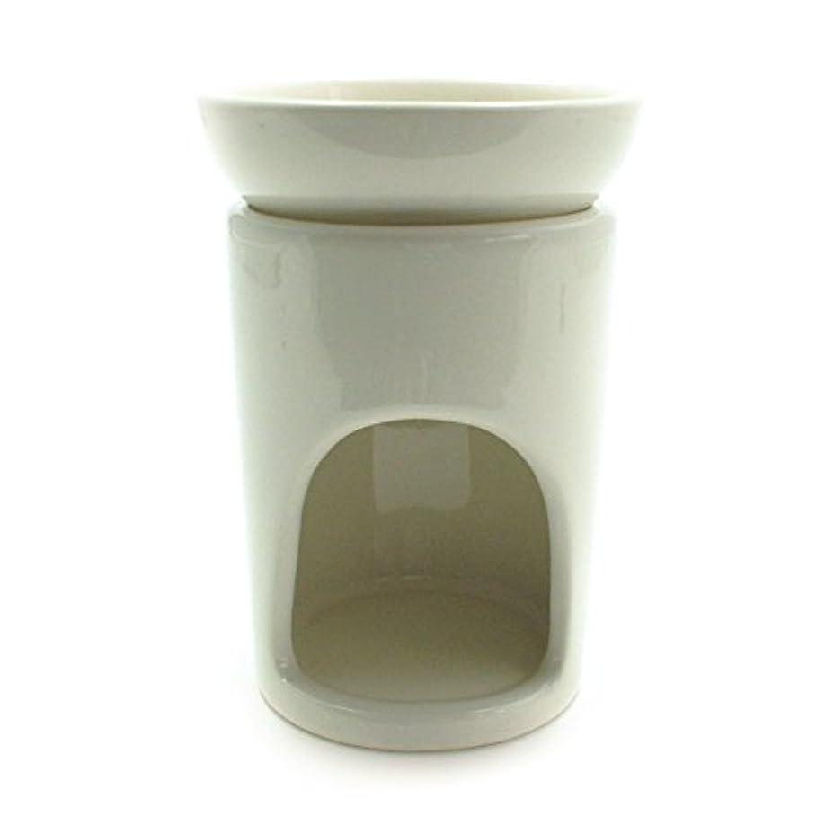 クリーム植木夕食を作るスリムポット ベージュ(アロマポット)