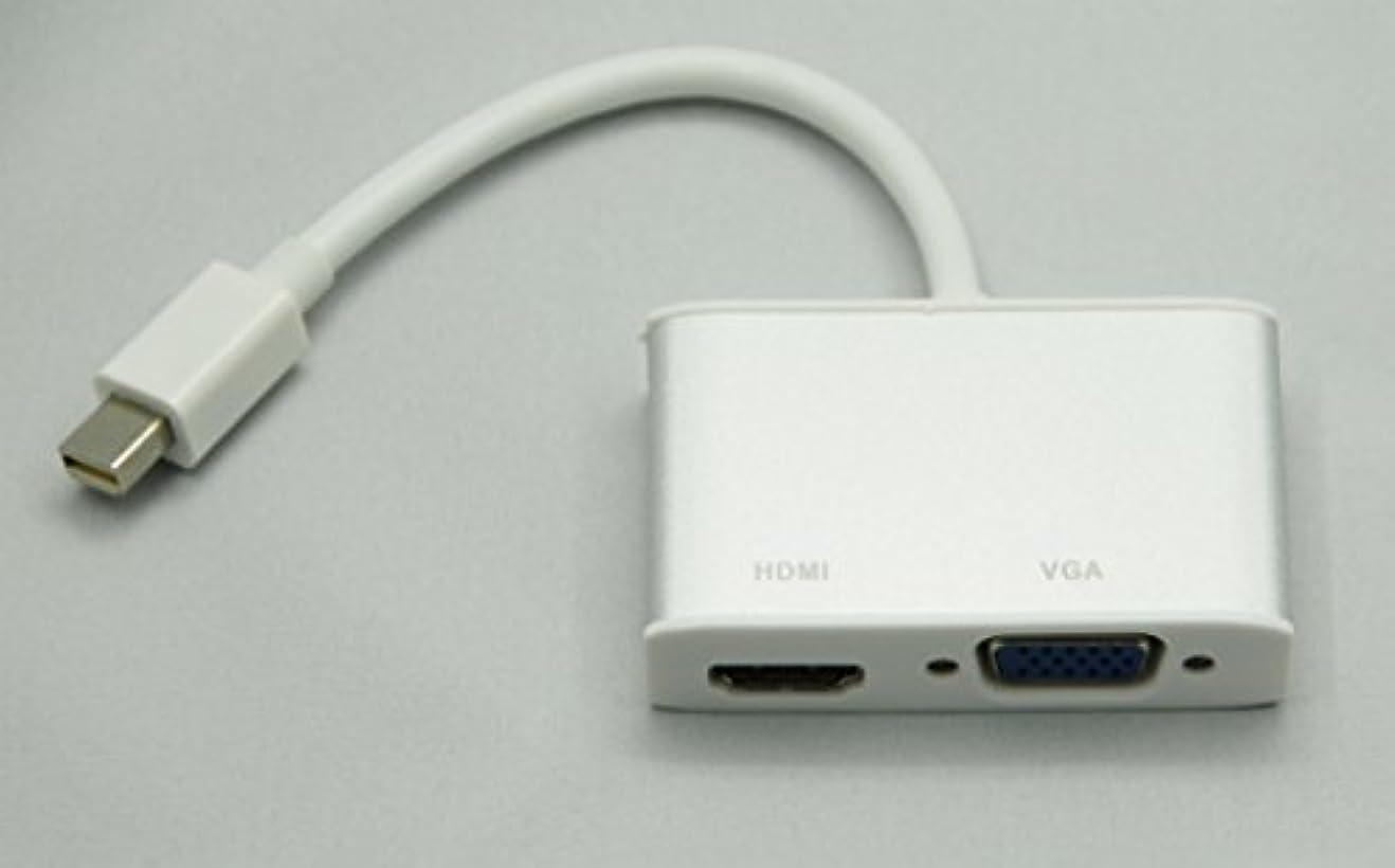 原始的な倉庫白鳥mini Displayport - VGA変換アダプタ HDMI変換アダプタ 2in1 Cyberplugs