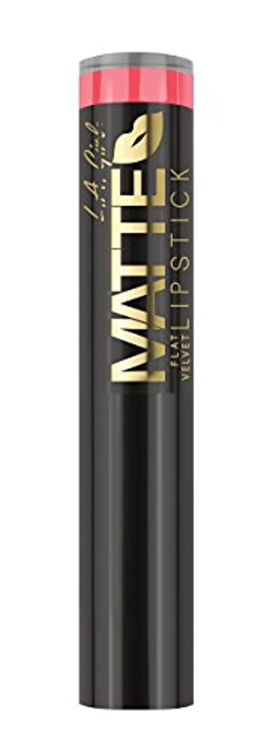 記念品と闘う音楽L.A. GIRL Matte Flat Velvet Lipstick Blessed (並行輸入品)