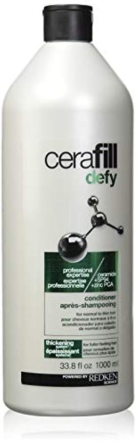 開梱製作隔離レッドケン Cerafill Defy Thickening Conditioner (For Normal to Thin Hair) 1000ml