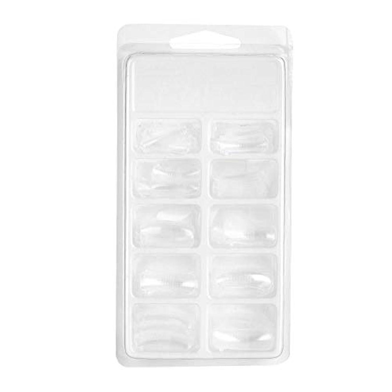 ドア件名メロディー100枚透明な爪型、ネイルアート 拡張子 操作しやすい DIYのマニキュアツール 長持ち 爪のツール