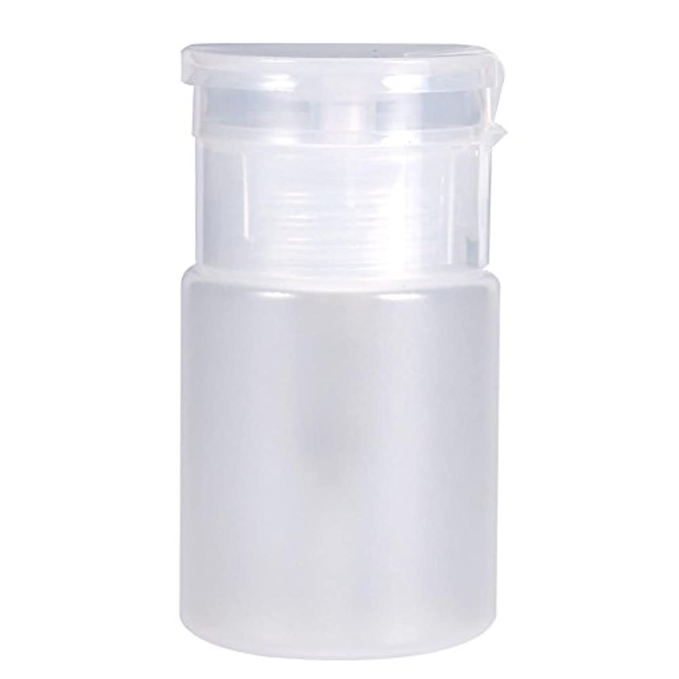 トマト奨励責任者60 mlマニキュアリムーバーポンプディスペンサー、ピンクまたはクリアトッププラスチックボトルプッシュダウンディスペンサー、マニキュアリムーバーリキッドクレンザー用詰め替え可能なメイク旅行ボトル(白い)