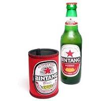 ビンタンビール ドリンクホルダー 全12色 アジアン雑貨 (E緑)