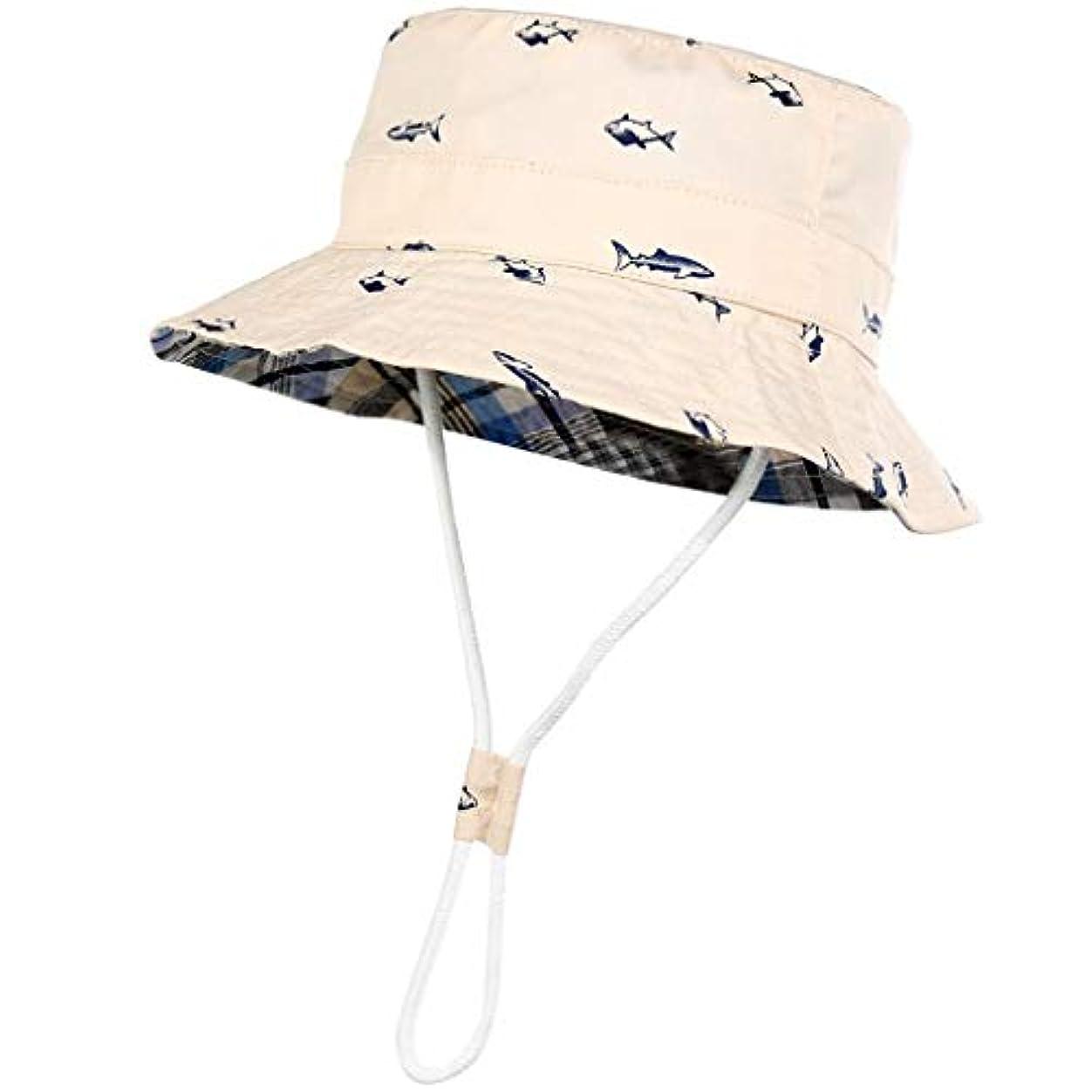 もし熱意鳥帽子 ハット 幼児の赤ん坊の子供の女の子の男の子の格子縞のリボンの通気性の帽子のバケツの帽子
