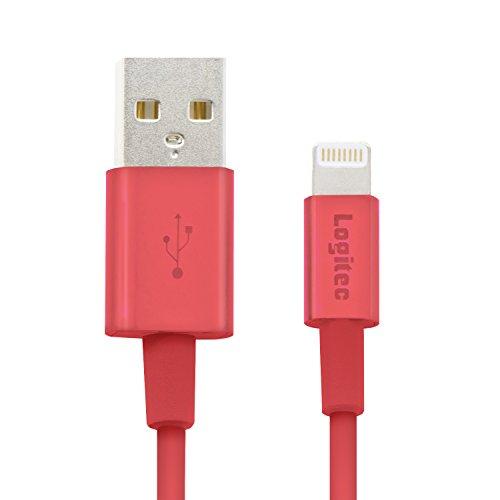 ロジテック ライトニングケーブル Lighting USBケーブル 【Apple認証 iPhone&iPad対応】 高耐久 アルミコネクター 1.0m レッド LHC-UALPS10RD