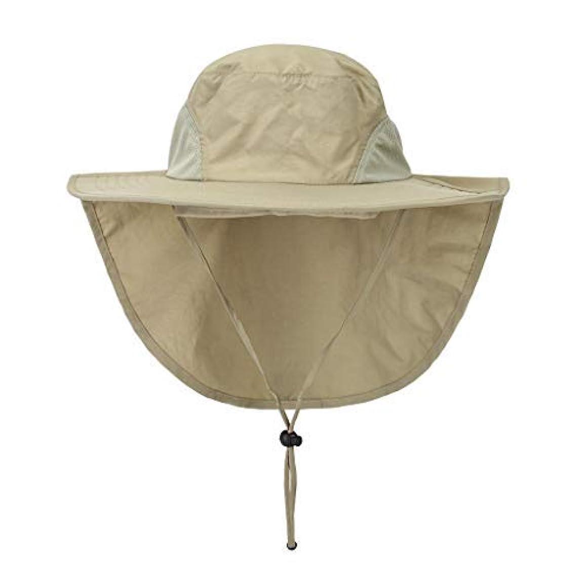 暖かく百カプラーASY アウトドア日焼け防止帽子 ネックファルプ メンズ レディース ハイキング 旅行 キャンプ ハンティング ボート 幅広つばキャップ