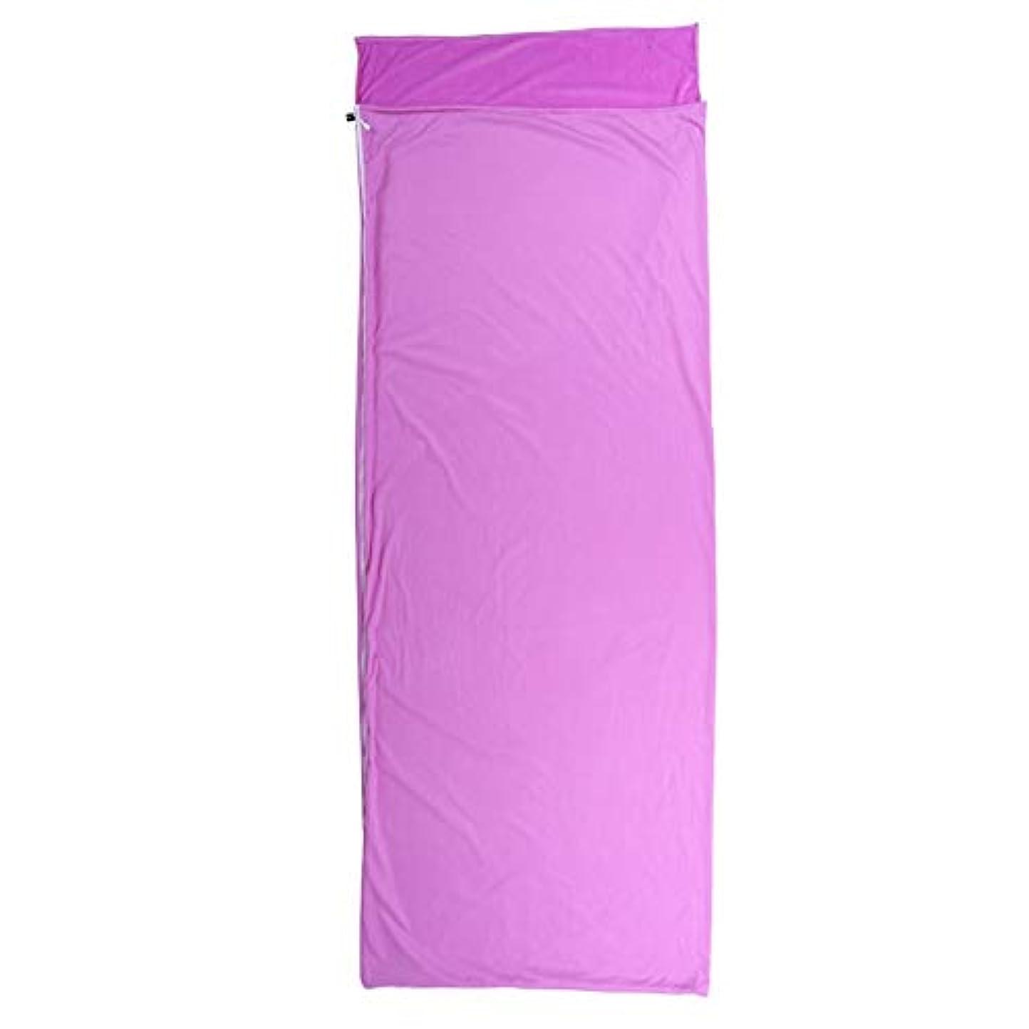 減少呪われたひまわり寝袋マットレスキルトテント3シーズンキャンプブッシュ屋外屋外 寝袋ライナー大人のアウトドア旅行封筒ウルトラライトポータブル旅行を準備する紫 個別の選択は完了しました (色 : 紫の)