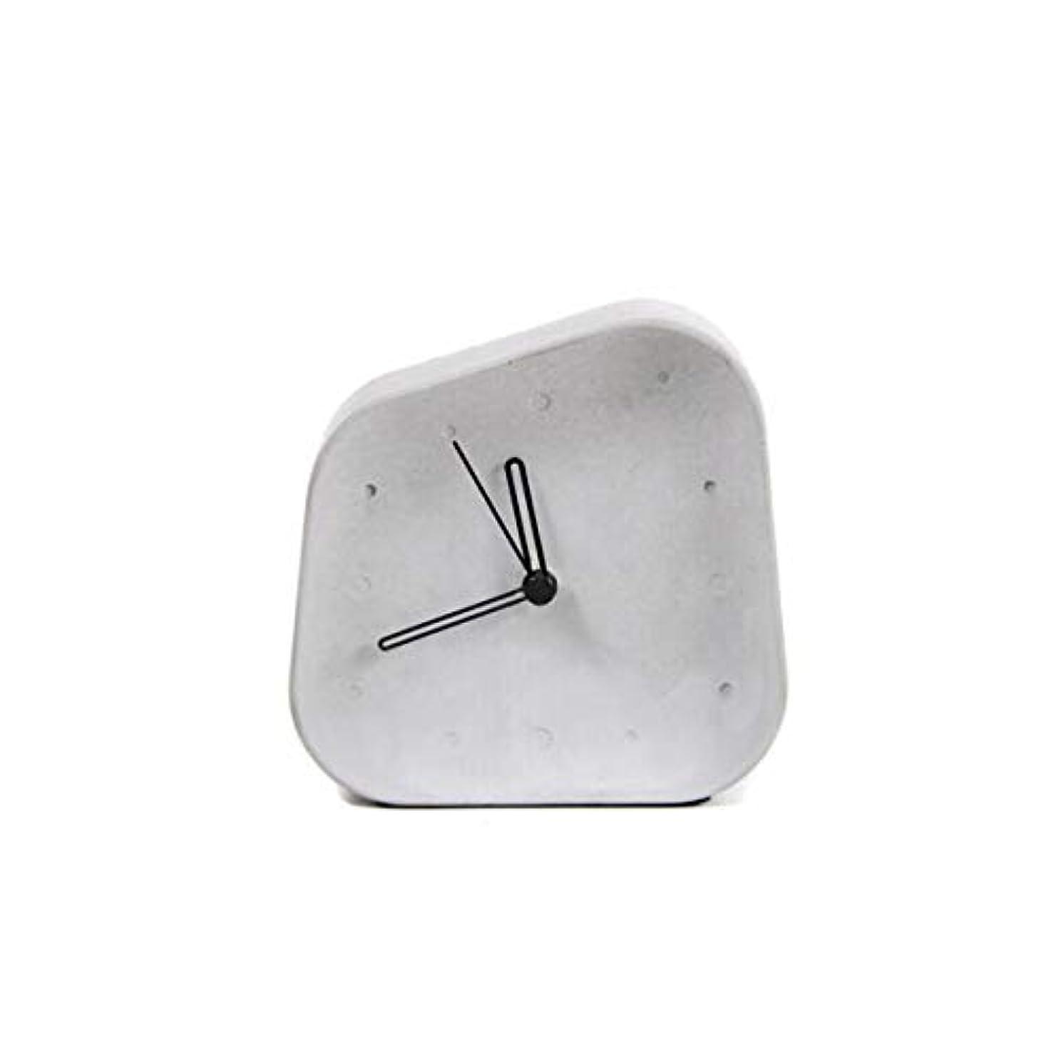 規則性ビールトラクターKaiyitong001 目覚まし時計、創造的な学生シンプルなサイレント目覚まし時計、デスクトップファッション小時計、ベッドサイドセメント時計装飾、目覚まし時計ホワイト (Color : White)