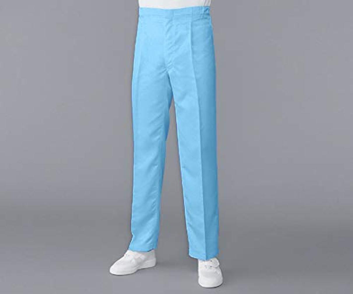 赤字ありがたい縞模様の無塵衣AS304A パンツ ブルー
