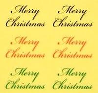 Christmasロゴ【3色MIX クリスマスネイルシール】(4)/1シート6枚入