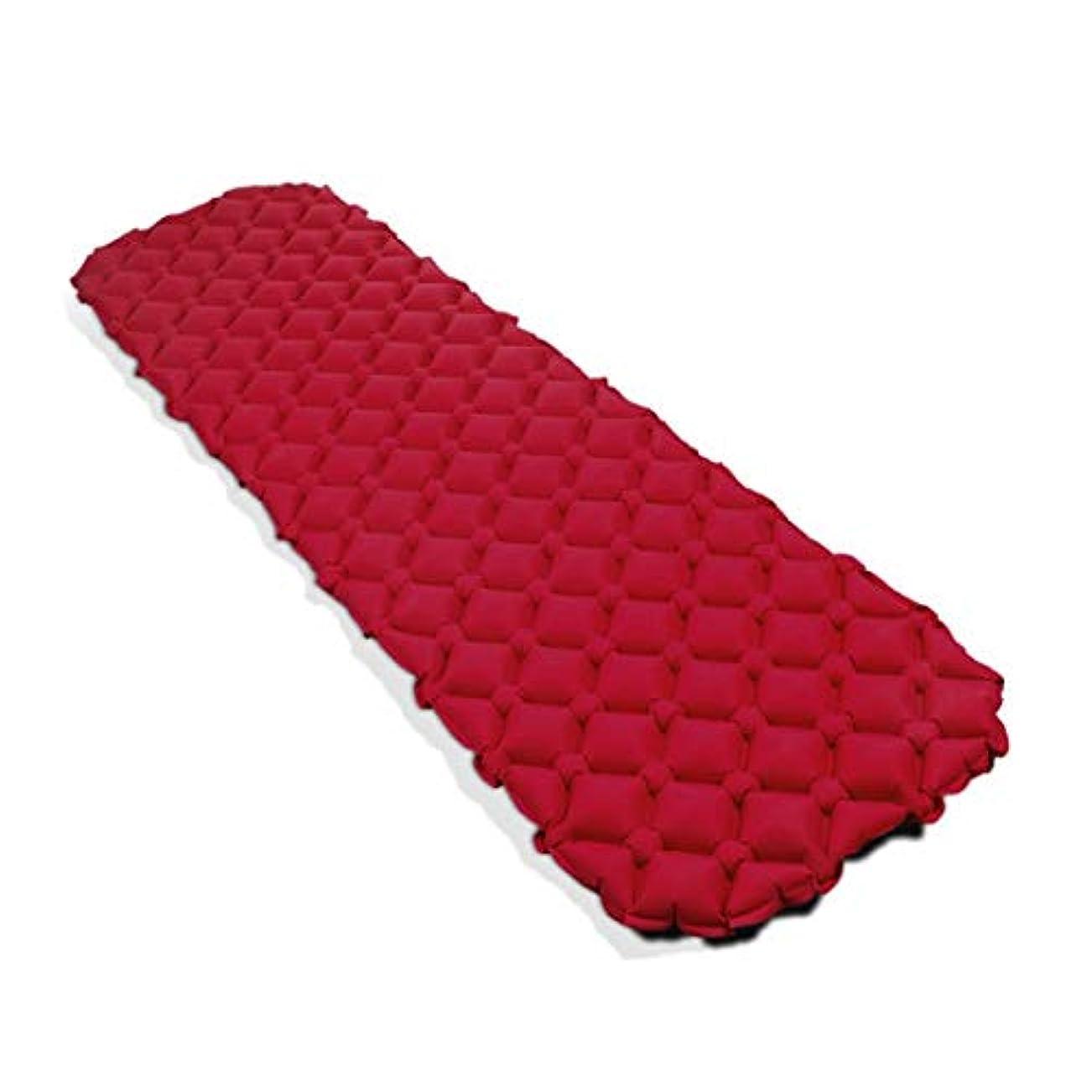 フェード評判滞在随州高新区酷冰便利购物店 キャンプテント寝袋 - 戸外の防湿自動インフレータブルパッドPVC自動インフレータブルパッド単一の縫製することができます (色 : オレンジ)