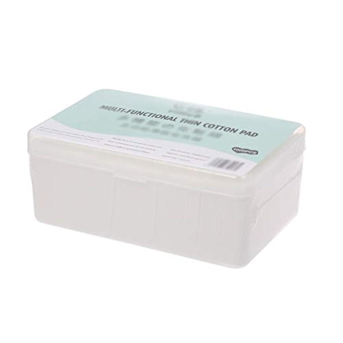 左奪う乞食クレンジングシート 1000ピース箱入り使い捨て超薄型コットンメイク落としネイルポリッシュリムーバークレンジングティッシュペーパーペーパー (Color : White, サイズ : 5*6cm)