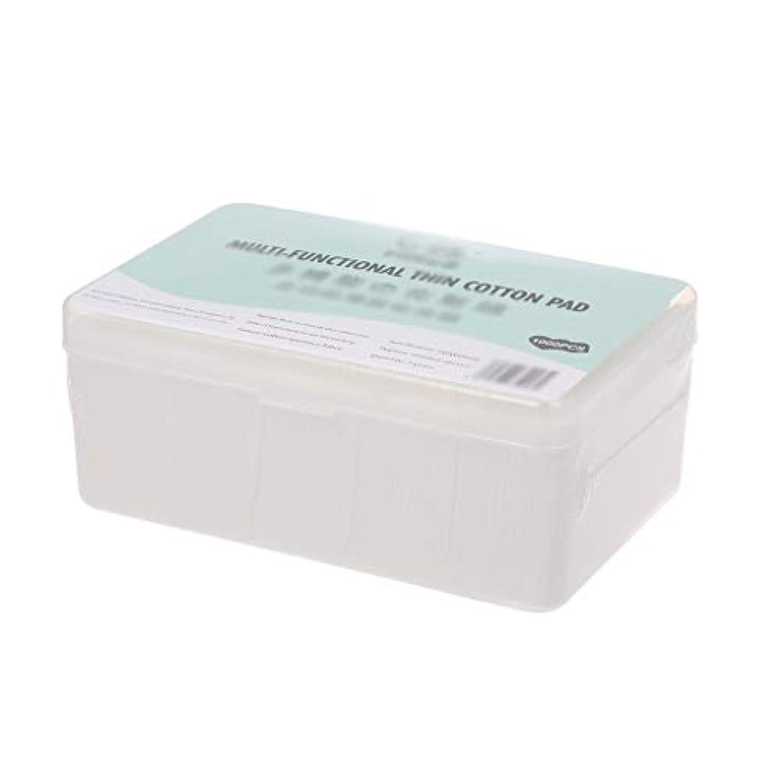 お肉見捨てられた曲線クレンジングシート 1000ピース箱入り使い捨て超薄型コットンメイク落としネイルポリッシュリムーバークレンジングティッシュペーパーペーパー (Color : White, サイズ : 5*6cm)