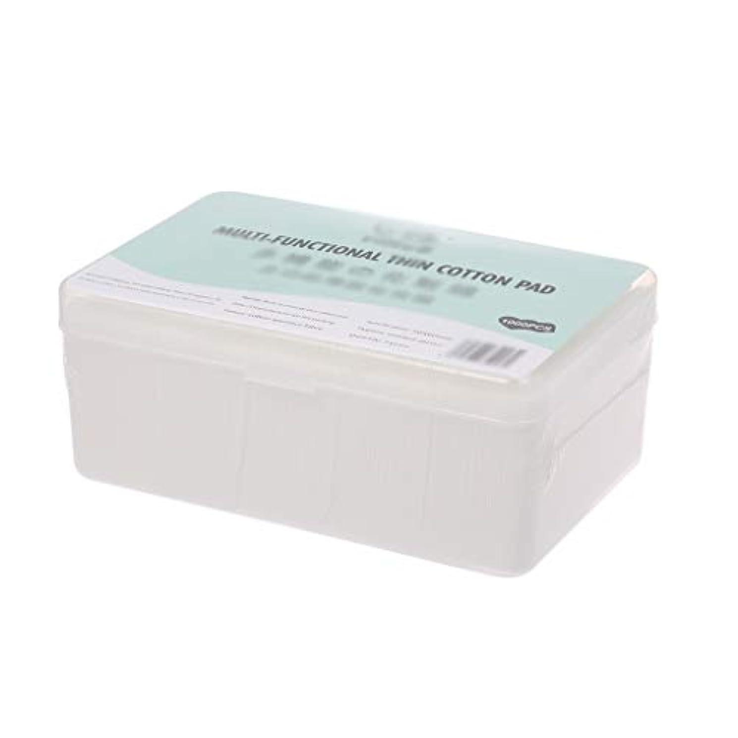 アルプス上へ孤独クレンジングシート 1000ピース箱入り使い捨て超薄型コットンメイク落としネイルポリッシュリムーバークレンジングティッシュペーパーペーパー (Color : White, サイズ : 5*6cm)