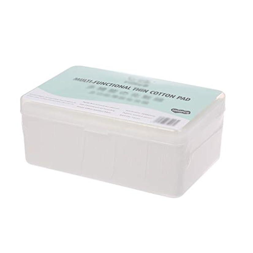エイズ迫害パスタクレンジングシート 1000ピース箱入り使い捨て超薄型コットンメイク落としネイルポリッシュリムーバークレンジングティッシュペーパーペーパー (Color : White, サイズ : 5*6cm)
