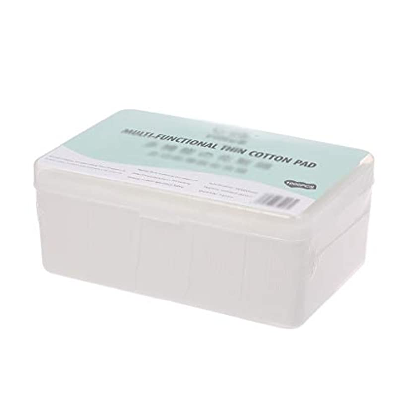 努力する真夜中配管工クレンジングシート 1000ピース箱入り使い捨て超薄型コットンメイク落としネイルポリッシュリムーバークレンジングティッシュペーパーペーパー (Color : White, サイズ : 5*6cm)