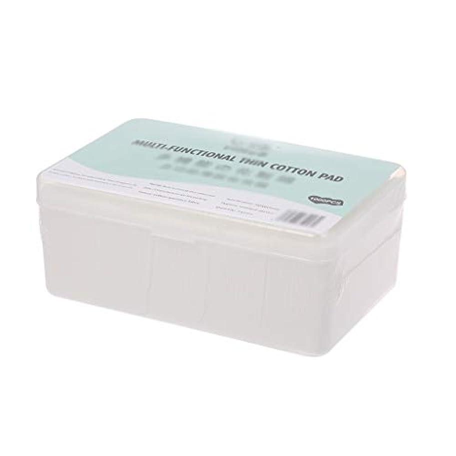 クレンジングシート 1000ピース箱入り使い捨て超薄型コットンメイク落としネイルポリッシュリムーバークレンジングティッシュペーパーペーパー (Color : White, サイズ : 5*6cm)