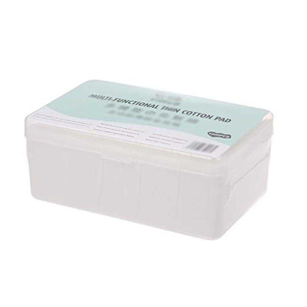 クレジット透過性派手クレンジングシート 1000ピース箱入り使い捨て超薄型コットンメイク落としネイルポリッシュリムーバークレンジングティッシュペーパーペーパー (Color : White, サイズ : 5*6cm)