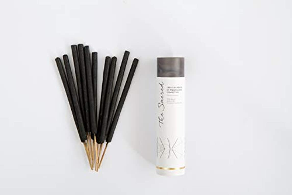 負担摂動ヒュームThe SacredバリIncense – 10プレミアムLong Burn ' Fat ' Sticks。100 % Organic & Natural Ingredients。