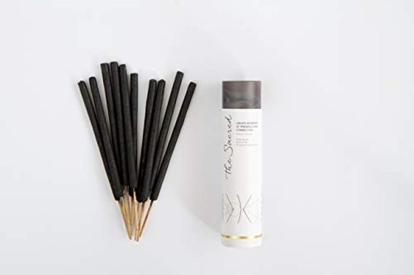 鋭く中世の練るThe SacredバリIncense – 10プレミアムLong Burn ' Fat ' Sticks。100 % Organic & Natural Ingredients。