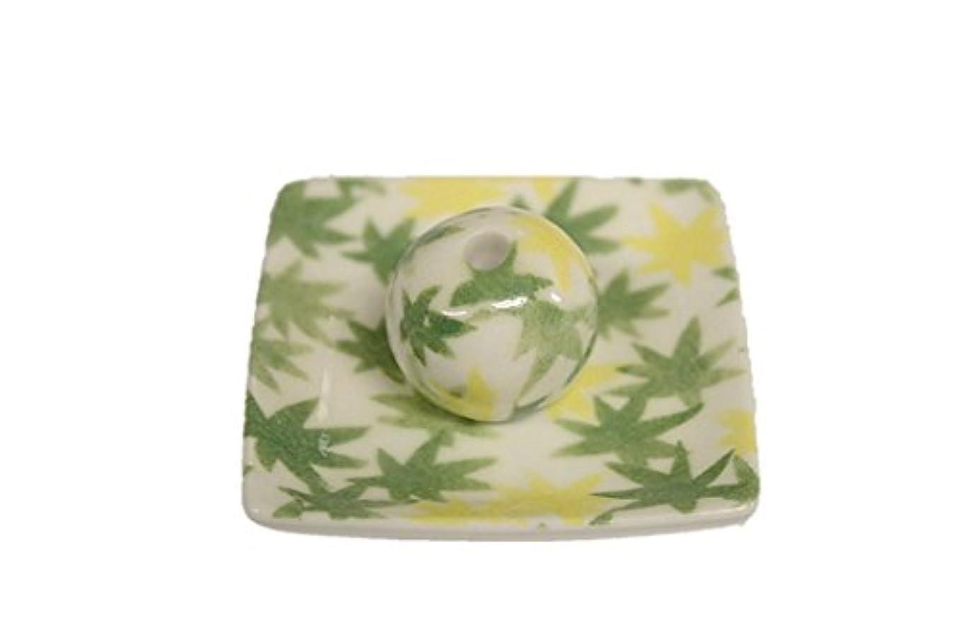 和路 緑 小角皿 お香立て 陶器 ACSWEBSHOPオリジナル