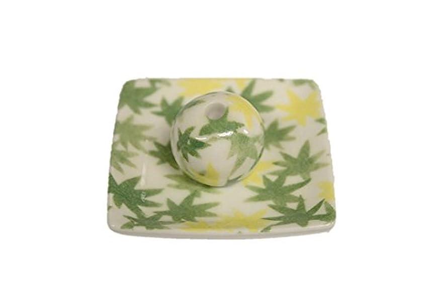 芽根拠添付和路 緑 小角皿 お香立て 陶器 ACSWEBSHOPオリジナル