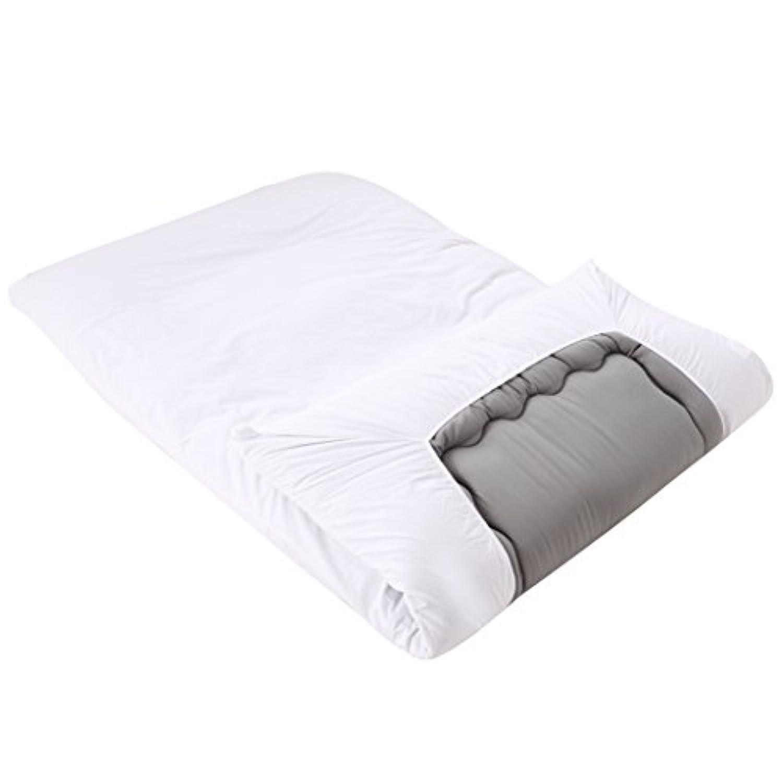 ワンタッチシーツ シングル 綿100% 無地 敷き布団カバー 平織り 敷きシーツ 防ダニ 抗菌  ホワイト