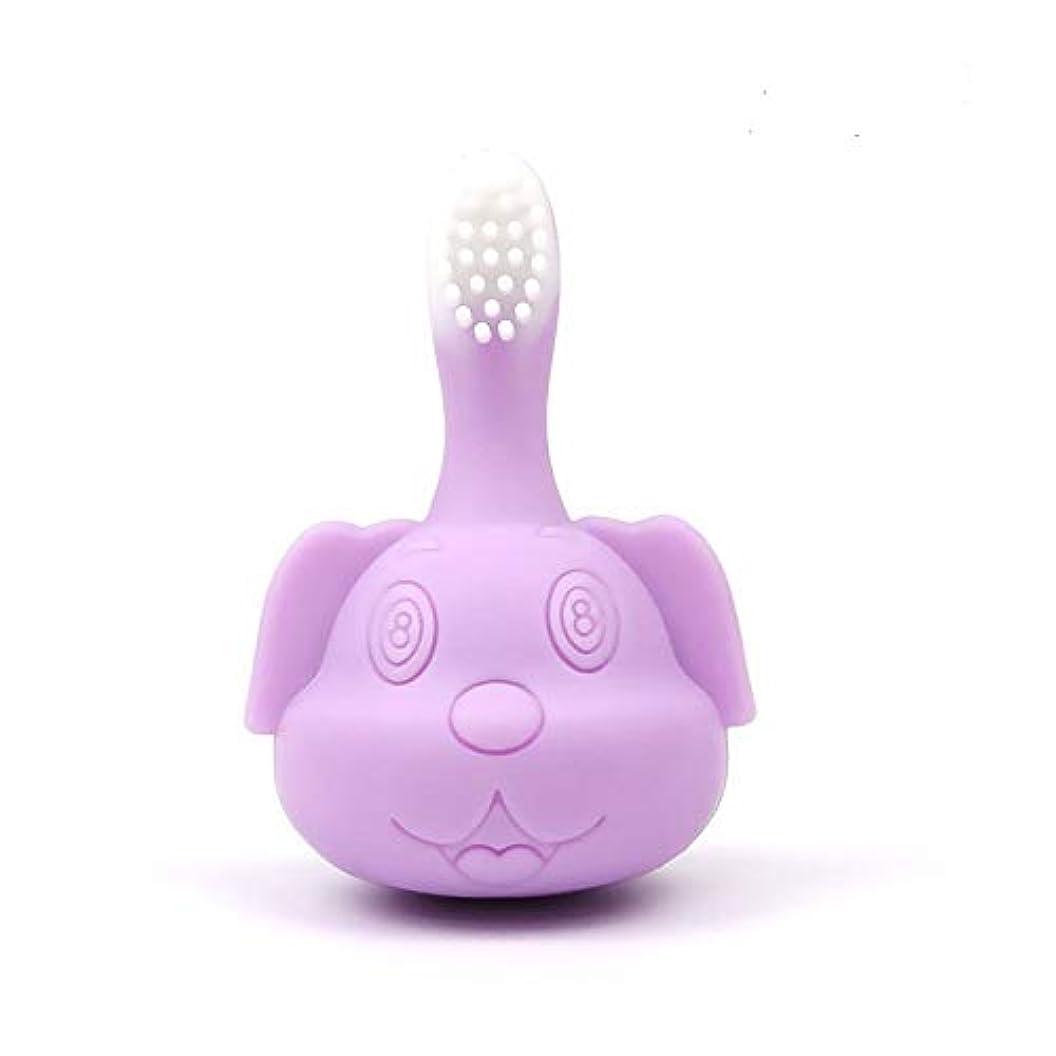 自明クモピアノDongGe 赤ちゃんの柔らかい歯ブラシは、繊細な、きれいな、柔らかい、かわいい、再生するために使用することができます (Color : Purple)