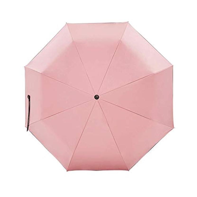 できれば離れた環境保護主義者ZEZHOU 特大日傘、黒いプラスチック日焼け止め、防風、防雨、UPF50 +、6色 (色 : Rouge powder)